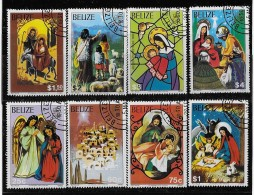 BELIZE  1980, SCOTT #525-32,  CHRISTMAS    CTO WITH GUM - Belize (1973-...)