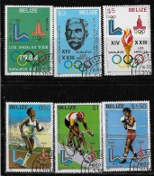 BELIZE  1981, SCOTT #555-60,  OLYMPIC  1984, CTO With GUM - Belize (1973-...)