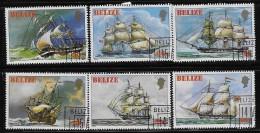 BELIZE  1982, SCOTT #609-14 ,  SHIPS, CTO WITH GUM - Belize (1973-...)