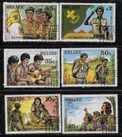 BELIZE  1982, SCOTT #638-43 ,  SCOUTS, CTO WITH GUM - Belize (1973-...)