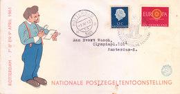 NEDERLAND SPECIAL COVER 1961 - NATIONAL POSTZEGELTENTOONSTELLING - Storia Postale