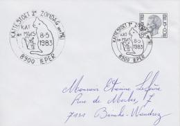 Enveloppe (1983-05-08, 8900 Ieper) RB - Chat Et Souris - EL - Poststempels/ Marcofilie