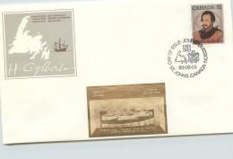 1983  Sir Humphrey Gilbert  Sc 995,  With Gold Foil Add-on - Omslagen Van De Eerste Dagen (FDC)