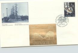 1984  Tall Ships  Sc 1012   With Gold Foil Add-on - Omslagen Van De Eerste Dagen (FDC)