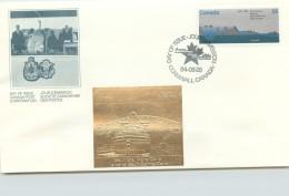 1984  St Lawrence Seaway 25th Ann, Sc 1015  With Gold Foil Add-on - Omslagen Van De Eerste Dagen (FDC)