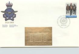 1984  Royal Canadian Air Force  Sc 1043  With Gold Foil Add-on - Omslagen Van De Eerste Dagen (FDC)