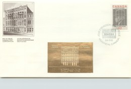 1984  T. Berthiaume, Newspaperman  Sc 1044  With Gold Foil Add-on - Omslagen Van De Eerste Dagen (FDC)