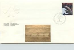 1985  Canadians In Space  Sc 1046  With Gold Foil Add-on - Omslagen Van De Eerste Dagen (FDC)