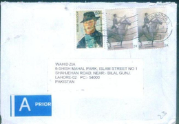 D214- Post From Belgium To Pakistan. Painting. Horse. Famous People. - Belgium