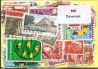 Lot 100 Timbres Danemark - Vrac (max 999 Timbres)