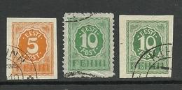 Estland Estonia Estonie 1919 Numeral Design Michel 6 - 8 O - Estland
