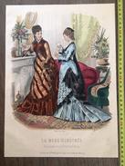 PLANCHE DE GRAVURE DE MODE ILLUSTREE 1875 TOILETTES DELAUNAY ANAIS TOUDOUZE - Collections