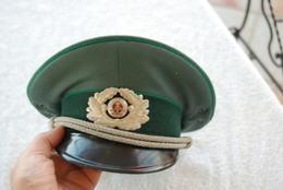 Casquette D'officier D'Allemagne De L'est - Casques & Coiffures
