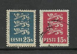 ESTLAND ESTONIA 1935 Michel 106 - 107 O - Estland