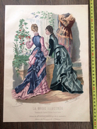PLANCHE DE GRAVURE DE MODE ILLUSTREE 1875 TOILETTES BREANT CASTEL  ANAIS TOUDOUZE - Collections