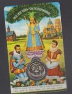 Carte Plastifiée Avec Médaille Et Prière Onze Lieve Vrouw Van Scherpenheuvel - Religion & Esotericism