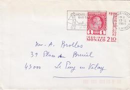 PRINCIPAUTE DE MONACO - LETTRE  MONTE CARLO 17.6.1985 POUR LE PUY EN VELAY FRANCE  / 1 - Monaco