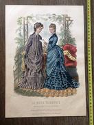 PLANCHE DE GRAVURE DE MODE ILLUSTREE 1875 TOILETTES BREANT CASTEL CHAPEAUX DELOFFRE  ANAIS TOUDOUZE - Collections