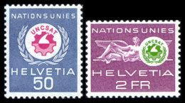 Switzerland, United Nations European Office, Suisse, ONU Office Européen, 1963, UNCSAT Conference, MNH, Michel 38-39 - Service