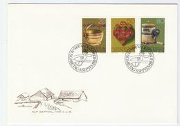 1980 LIECHTENSTEIN  FDC Stamps BUTTER CHURN  Etc Cover - FDC
