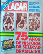 PLACAR (BRÉSIL) BRAZIL NATIONAL TEAM 75 YEARS HISTORY - Books, Magazines, Comics