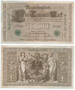 Alemania - Germany 1.000 Mark 1910 Sello Verde 7 Nºs Pick 45.b Ref 1316 - [ 2] 1871-1918 : German Empire