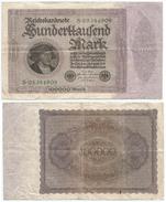 Alemania - Germany 100.000 Mark 1923 Pick 83.a Ref 68-2 - [ 3] 1918-1933 : República De Weimar