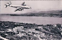 Aviation, Avion Constellation Au-dessus Du Palais Des Nations Unies Genève (7099) - 1946-....: Era Moderna