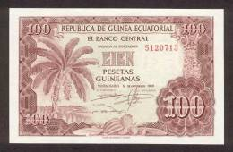 EQUATORIAL GUINEA P.  1 100 P 1969 UNC - Guinea Ecuatorial