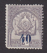 Tunisia, Scott #60, Mint Hinged, Coat Of Arms Surcharged, Issued 1908 - Neufs
