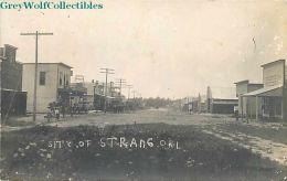 OK, Strange, Oklahoma, Street Scene, RPPC - United States
