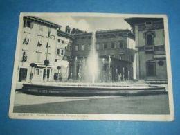 Cartolina Rovereto - Piazza Rosmini Con La Fontana 1935 - Trento