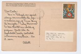 1961 PORTUGAL  COVER Stamps 1e INFANTE DOM HENRIQUE  (postcard Monument Henry The Navigator)  To USA - 1910-... République