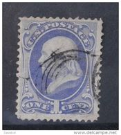 R047-USA STAMP, 1870-73.-.SC#: 145 OR 156 ,USED, FRANKLIN , 1 CT. CV US$ 20 / 5 - 1847-99 General Issues