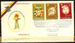 COLOMBIA 1961.12.16 F.D.C.  IV Juegos Deportivos Bolivarianos. (1) - Colombia