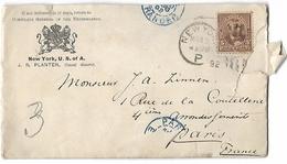 Etats - Unis  Lettre   Du  15 Avril  1892   De New - York (Consulat Des Pays - Bas ) Timbre Seul Sur Lettre - Postal History