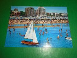 Cartolina Rimini - Alberghi E Spiaggia 1974 - Rimini