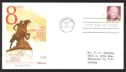 USA Sc# 1402 Single (Fleetwood) FDC (b) (Washington DC) 1971 5.10 Eisenhower - Eerste Uitgaves (FDC)