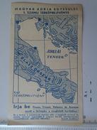 D150982.2 Postcard -Magyar Adria  Egyesület - Fiume Trieste Venezia Ancona -Croatia Italia - Europe