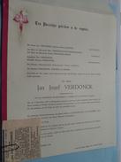 DB Jan Jozef VERDONCK () Borgerhout 3 Dec 1893 - Wilrijk 21 Nov 1966 ( Detail - Zie Foto ) + Krantartikel ! - Avvisi Di Necrologio