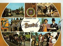 8-61 CZECHOSLOVAKIA  1977 Toast From Pilsen - Pilsner Urquell Main Gate Of The Plzensky Prazdroj Forman Ride - Taxi & Carrozzelle