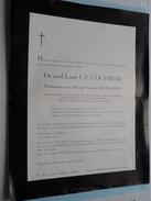 DB Dr. Med. Louis L. F. COUVREUR ( Biestraeten ) St. Amandsberg 28 Juli 1881 - 17 Sept 1960 ( Detail - Zie Foto ) ! - Avvisi Di Necrologio
