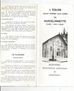 Dépliant Touristique , L'église St Pierre Aux Liens De BARCELONNETTE , 2 SCANS, 6 Pages   , Frais Fr : 1.55 Euros - Dépliants Touristiques