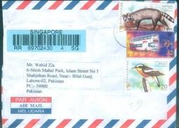 D233- Post From Singapore To Pakistan. Bird. Animal. Bus - Singapore (1959-...)