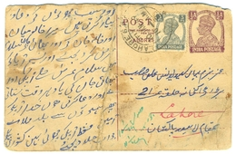 D262- British India King George VI Postal Used Post Card. Post To Pakistan. - India