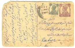 D263- British India King George VI Postal Used Post Card. Post To Pakistan. - India