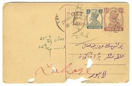 D265- British India King George VI Postal Used Post Card. Post To Pakistan. - India