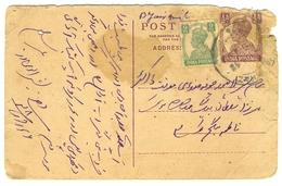 D269- British India King George VI Postal Used Post Card. Post To Pakistan. - India