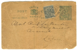 D271- British India King George V Postal Used Post Card. Post To Pakistan. - India