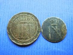 WESTFALEN 20 Centimes 1808 1/24 Taler 1809 LOT 2 Stück !!! - [ 1] …-1871: Altdeutschland